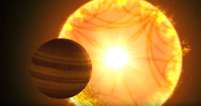 Hot Saturn and star